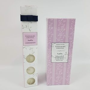 Tipperary Crystal Sweet Pea Diffuser & Tea Candles